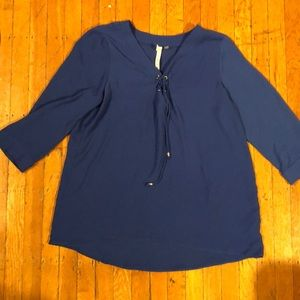 NY Collection 3/4 sleeve shirt, size L
